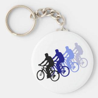 Deporte - el Biking, completando un ciclo, bici Llavero Redondo Tipo Pin