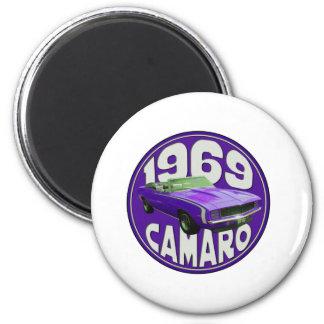 Deporte estupendo 1969 de Camaro de la púrpura Imán De Nevera