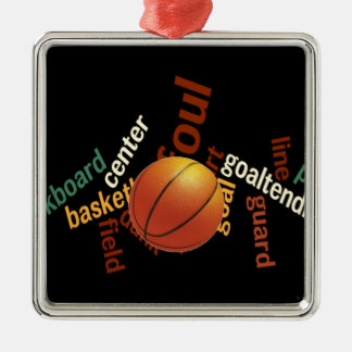 Deporte Fanatics.jpg del baloncesto de los aros Adorno Navideño Cuadrado De Metal