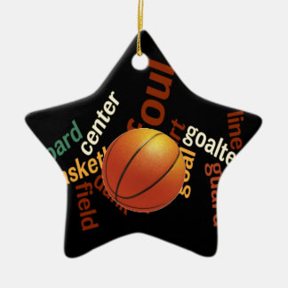 Deporte Fanatics.jpg del baloncesto de los aros Adorno Navideño De Cerámica En Forma De Estrella