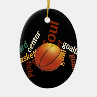 Deporte Fanatics.jpg del baloncesto de los aros Adorno Navideño Ovalado De Cerámica