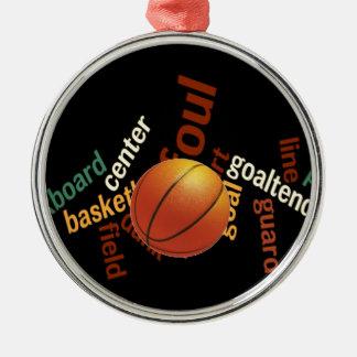 Deporte Fanatics.jpg del baloncesto de los aros Adorno Navideño Redondo De Metal