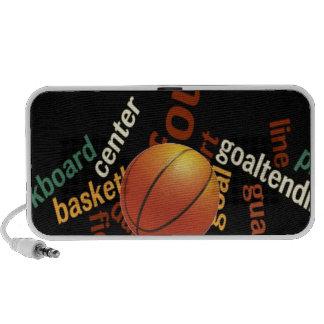 Deporte Fanatics.jpg del baloncesto de los aros Mini Altavoz
