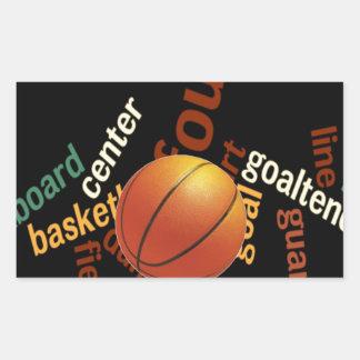 Deporte Fanatics.jpg del baloncesto de los aros Pegatina Rectangular