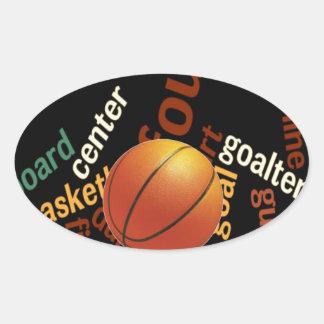 Deporte Fanatics.jpg del baloncesto de los aros Calcomanías De Ovales