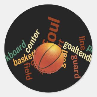 Deporte Fanatics.jpg del baloncesto de los aros Pegatina Redonda
