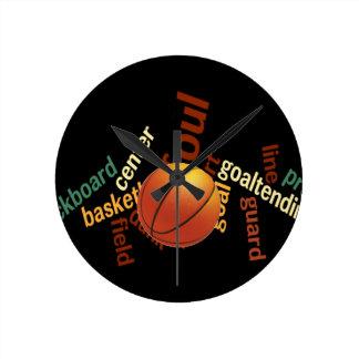 Deporte Fanatics.jpg del baloncesto de los aros Reloj Redondo Mediano