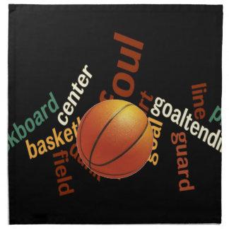 Deporte Fanatics.jpg del baloncesto de los aros Servilleta