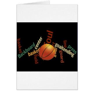 Deporte Fanatics.jpg del baloncesto de los aros Tarjeta De Felicitación