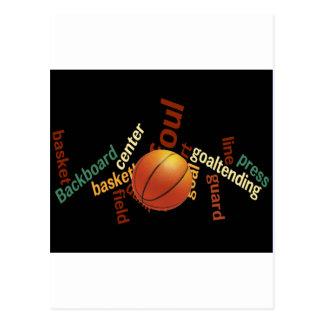 Deporte Fanatics.jpg del baloncesto de los aros Tarjeta Postal