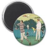 Deporte Golfing de los golfistas del golf de Escoc Imanes Para Frigoríficos