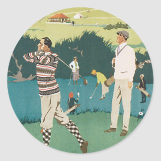 Deporte Golfing de los golfistas del golf de Pegatina Redonda
