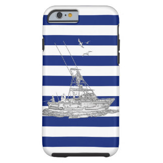 Deporte náutico Fishin del cromo en la impresión Funda Para iPhone 6 Tough