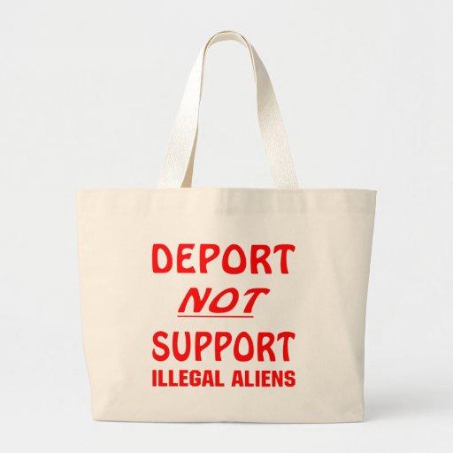 Deporte no a los inmigrantes ilegales de la ayuda bolsa