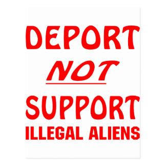 Deporte no a los inmigrantes ilegales de la ayuda tarjetas postales