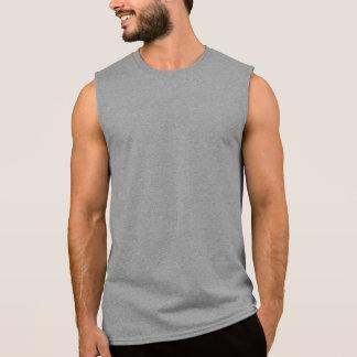 Deporte sin mangas de la camiseta del algodón de l