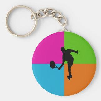 deporte - tenis llavero redondo tipo pin