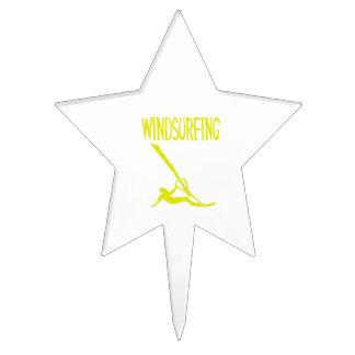 deporte windsurfing copy.png del texto amarillo v3 decoración de tarta