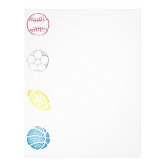 Deportes #3 de papel plantilla de membrete