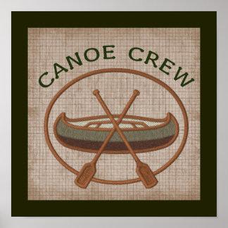 Deportes acuáticos Canoeing del equipo de la canoa Póster