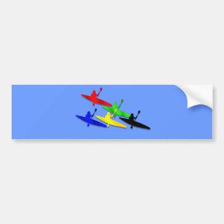 Deportes acuáticos Canoeing del kyak de la canoa d Pegatina Para Auto