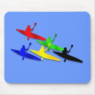 Deportes acuáticos Canoeing del kyak de la canoa d Tapete De Ratones