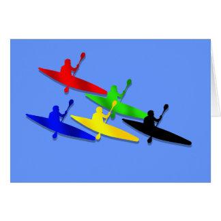 Deportes acuáticos Canoeing del kyak de la canoa d Tarjeta De Felicitación