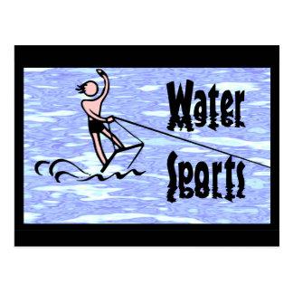 Deportes acuáticos tarjetas postales
