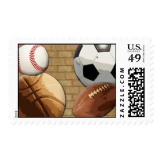 Deportes Al-Estrella, baloncesto/fútbol/fútbol Timbre Postal
