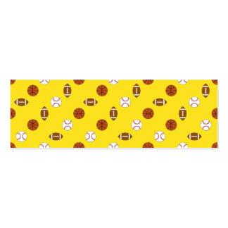 Deportes amarillos tarjetas de visita mini
