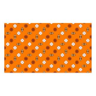 Deportes anaranjados tarjetas de visita