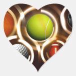 Deportes Calcomanía De Corazón Personalizadas