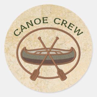 Deportes Canoeing del equipo de la canoa Pegatina Redonda