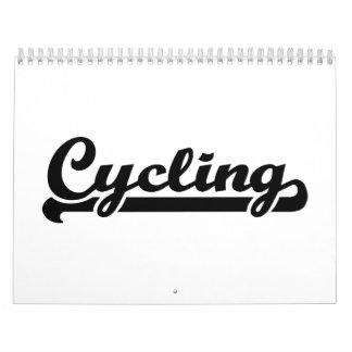 Deportes de ciclo calendario de pared