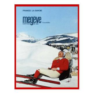 Deportes de invierno del vintage, esquí Francia, S Tarjeta Postal
