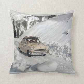 Deportes de invierno del vintage, rastro a la esta almohada