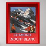 Deportes de invierno del vintage, soporte Blanc de Poster