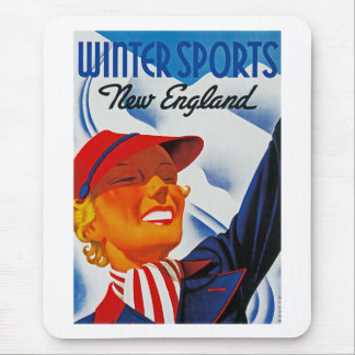 Deportes de invierno en Nueva Inglaterra Alfombrilla De Ratones