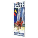 Deportes de invierno en Yosemite PosterYosemite, C Impresión En Lona Estirada
