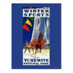 Deportes de invierno en Yosemite PosterYosemite, Postal
