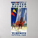 Deportes de invierno en Yosemite PosterYosemite, Póster