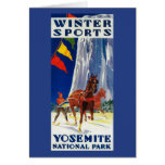 Deportes de invierno en Yosemite PosterYosemite, Tarjeta De Felicitación