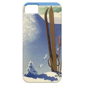 Deportes de invierno - engranaje del esquí iPhone 5 fundas