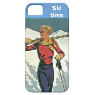 Deportes de invierno - tiempo del esquí iPhone 5 carcasa