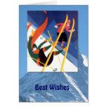 Deportes de invierno - una poca caída tarjeta de felicitación