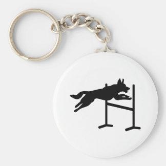 Deportes de la agilidad del perro llavero personalizado