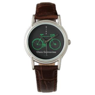 Deportes de la bicicleta personalizados con nombre reloj de mano
