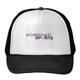 Deportes de la charla de las mujeres gorras