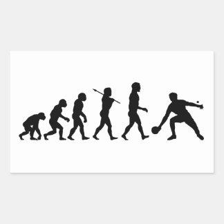 Deportes de la diversión de la evolución de los pegatina rectangular