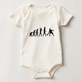 Deportes de la diversión de la evolución de los te mameluco de bebé